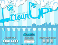 Keep it clean with Clean UP (Shower Room) Poster
