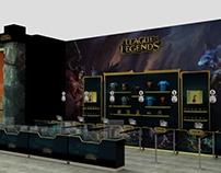 Maqueta 3D, aréa merch LOL Festigames2016 / Muchacha