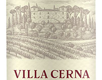 Villa Cerna Wine Label Illustrated by Steven Noble