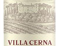 Villa Cerna Wine Label Illustrated by Steven Noble