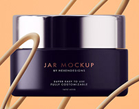 Cream Jar Mockup+Free Sample