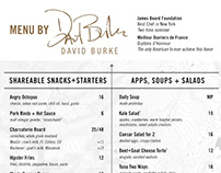 Menu for David Burke's Restaurant at Breck Distillery