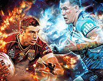 State of Origin 2016 | NRL Social Media Graphics
