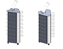 3-sides stand for batteries