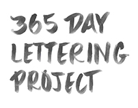 365 Day Lettering Project Highlights