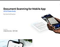 Document Scanner App Design