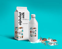Alphabet MiIk . Illustration & Packaging
