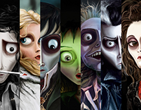 Tim Burton Movies Characters to Cartoon.