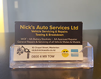 Nicks Auto Services Business Stationery