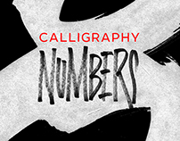 Numbers. Modern calligraphy, 2015