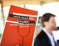 Diseño Tapa Libro Mas Alla del Malbec