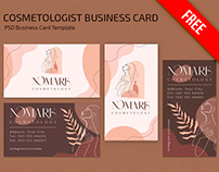Free Cosmetologist Business card Template in PSD