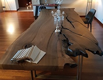 French Walnut Live Edge Table
