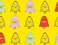 Opopop Popcorn Characters