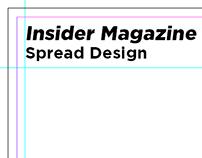 Insider Magazine - Spread Design
