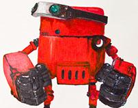 Ilustración Robot realizado con rotuladores