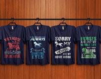 Horse T-Shirt Design