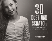 30 Dust and Scratch Overlay Textures