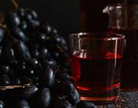 Food -Вино и виноградный сок, съемка для SMM
