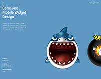 Samsung Mobile Widget Design