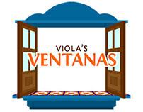 Viola's Ventanas - logo design