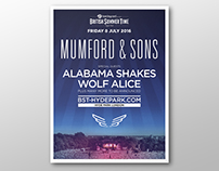 Mumford & Sons: Hyde Park concert poster retouching