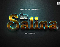 Free 3D Effect Salina Text Effect PSD