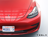 Tesla Model 3 Low-poly (Official)
