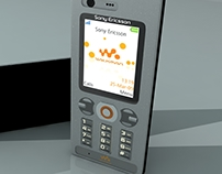 SonyEricsson W880 - 3D Product Modeling