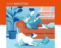ASISA Mascotas - Brochure illustrations