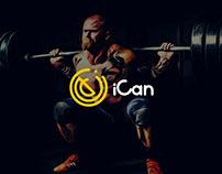 iCan Gym Branding & UI/UX