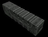 3D concept of a sci-fi flashlight