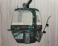 SKI LIFT ADDICT - My ski lift paintings ...