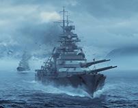 "Bismarck & Prinz Eugen for ""LOS ! Le magazine de la gue"
