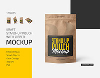 Kraft Stand-Up Pouch Mockup Set