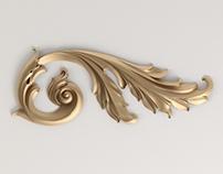 Corner decorative element