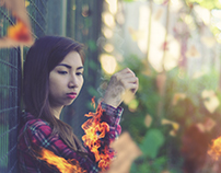 Girl On Fire (Photo Manipulation Session 2016)
