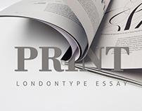 PRINT | Typography Essay