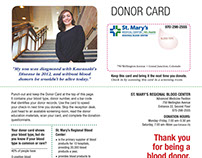 Blood Donor Card Mailer