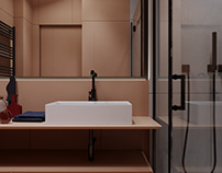 Contemporary bathroom design and vizualization