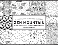 Mountain Seamless Repeating Pattern Tiles