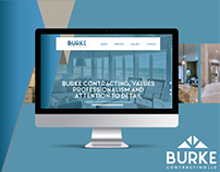 GRAPHIC INTERFACE DESIGN FOR BURKE CONTRACTING