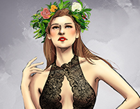 Fashion illustration for intimate apparel