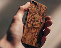 Kiosk store — illustrations for wood cases