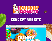 Dunkin' Donut Concept Website