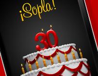 McDonald´s 30 cumpleaños. APP iPhone & Android.