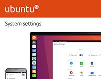 Ubuntu System Settings Desktop View