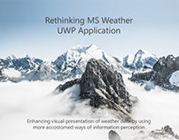 Rethinking MS Weather UWP Application