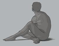 Sketchbook, Practice, Anatomy and Lifedrawing