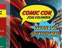 Propuesta plegable Comic Con Colombia 2016